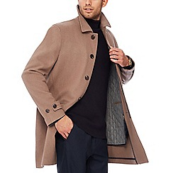 J by Jasper Conran - Taupe wool blend 2-in1 coat