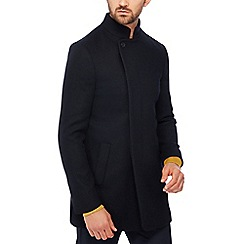 J by Jasper Conran - Big and tall navy wool rich epsom coat