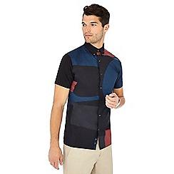 J by Jasper Conran - Blue printed short sleeve shirt