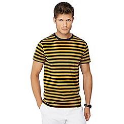 J by Jasper Conran - Dark yellow Breton stripe t-shirt