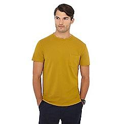 J by Jasper Conran - Dark yellow pique t-shirt