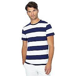 J by Jasper Conran - Blue block stripe t-shirt