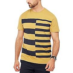 J by Jasper Conran - Dark yellow double stripe print t-shirt