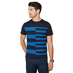 J by Jasper Conran - Royal blue double stripe print T-shirt