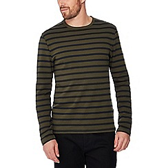 J by Jasper Conran - Green stripe print cotton top