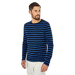 J by Jasper Conran - Bright blue stripe print long sleeve top