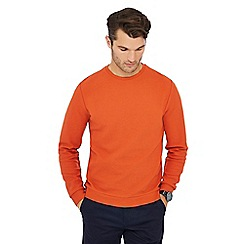 J by Jasper Conran - Orange herringbone textured sweatshirt