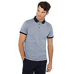 J by Jasper Conran - Big and tall blue contrast collar polo shirt