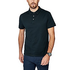 J by Jasper Conran - Dark green jacquard textured polo shirt