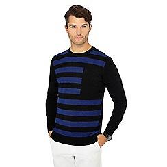 J by Jasper Conran - Blue broken stripe wool rich jumper