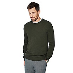 J by Jasper Conran - Green crew neck cashmere jumper