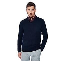 J by Jasper Conran - Navy v-neck cashmere jumper