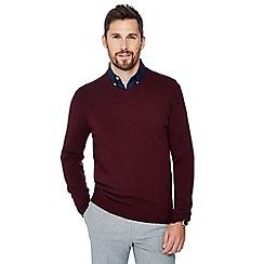 J by Jasper Conran - Maroon v-neck cashmere jumper