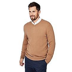 J by Jasper Conran - Camel v-neck cashmere jumper