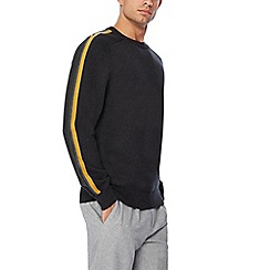 J by Jasper Conran - Grey striped sleeve jumper
