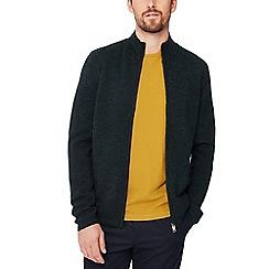J by Jasper Conran - Green 'Milano' wool zip through cardigan