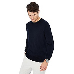 J by Jasper Conran - Navy crew neck Merino wool jumper