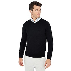 J by Jasper Conran - Black V-neck Merino wool jumper