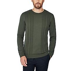 J by Jasper Conran - Olive vertical stripe jumper