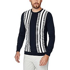J by Jasper Conran - Navy vertical stripe jumper