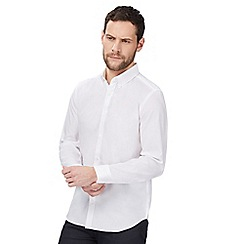 J by Jasper Conran - Big and tall designer white button down tailored oxford shirt