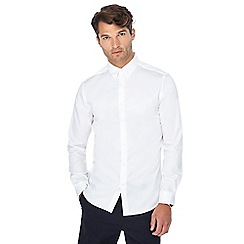 J by Jasper Conran - White sateen button down collar shirt