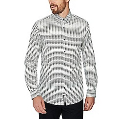 J by Jasper Conran - White shard print long sleeves regular fit shirt