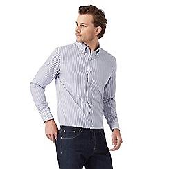 J by Jasper Conran - Big and tall designer white classic striped shirt