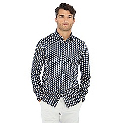 J by Jasper Conran - Multicoloured geometric print long sleeve regular fit shirt