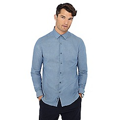 J by Jasper Conran - Blue twill long sleeve shirt