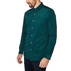 J by Jasper Conran - Green baby cord long sleeve regular fit shirt