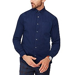 J by Jasper Conran - Blue baby cord long sleeve regular fit shirt