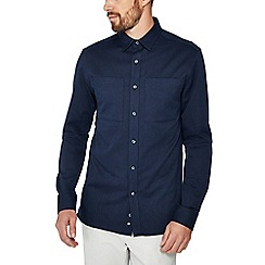 J by Jasper Conran - Mid blue twill long sleeve regular fit shirt