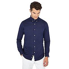 J by Jasper Conran - Royal blue long sleeve regular fit Oxford shirt