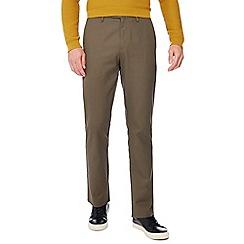 J by Jasper Conran - Khaki tailored fit twill trousers