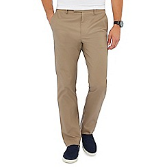 J by Jasper Conran - Big and tall taupe slim fit twill chinos