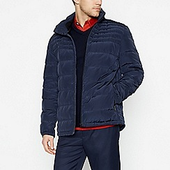 J by Jasper Conran - Navy 'Alpine' Shower Resistant Quilted Down Jacket
