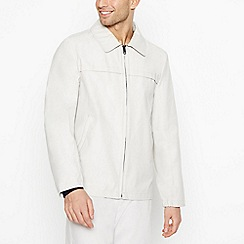 J by Jasper Conran - Big and tall pale grey shower resistant Harrington jacket