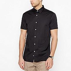 J by Jasper Conran - Black Short Sleeve Regular Fit Shirt