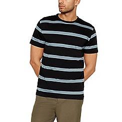 J by Jasper Conran - Big and tall black westend stripe cotton t-shirt