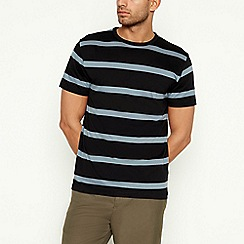 J by Jasper Conran - Black Westend Stripe Cotton T-Shirt