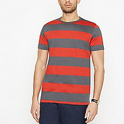 J by Jasper Conran - Red Block Stripe Cotton T-Shirt