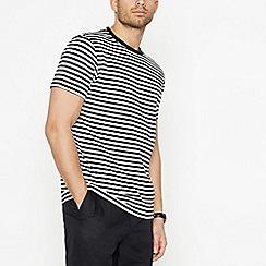 J by Jasper Conran - Black Nautical Stripe Cotton T-Shirt