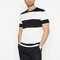 J by Jasper Conran - Black Block Stripe Cotton T-Shirt