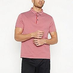 J by Jasper Conran - Red Jacquard Cotton Polo Shirt
