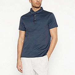 J by Jasper Conran - Dark Blue Jacquard Polo Shirt