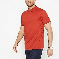 J by Jasper Conran - Red Textured Polo Shirt
