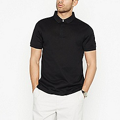 J by Jasper Conran - Black Textured Polo Shirt