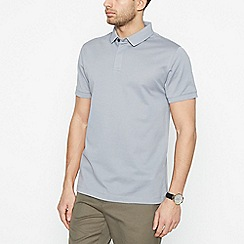 J by Jasper Conran - Grey Textured Polo Shirt