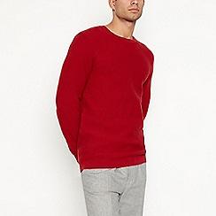 J by Jasper Conran - Red basket weave knit jumper